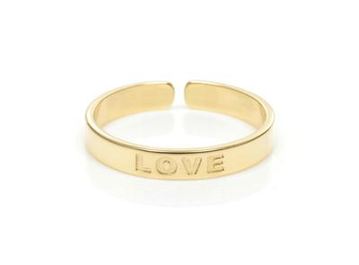 Pierścionek regulowany LOVE