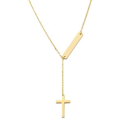 Naszyjnik Krzyż z blaszką